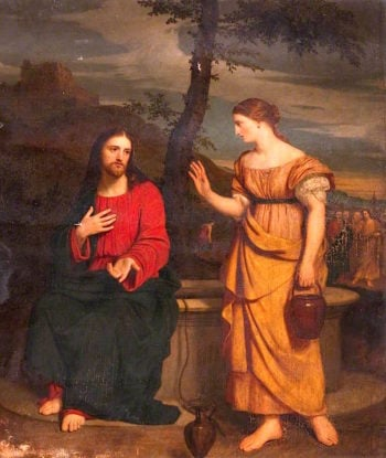 Christ and the Woman of Samaria | John Graham-Gilbert | oil painting