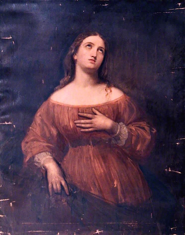 Contemplation   John Graham-Gilbert   oil painting