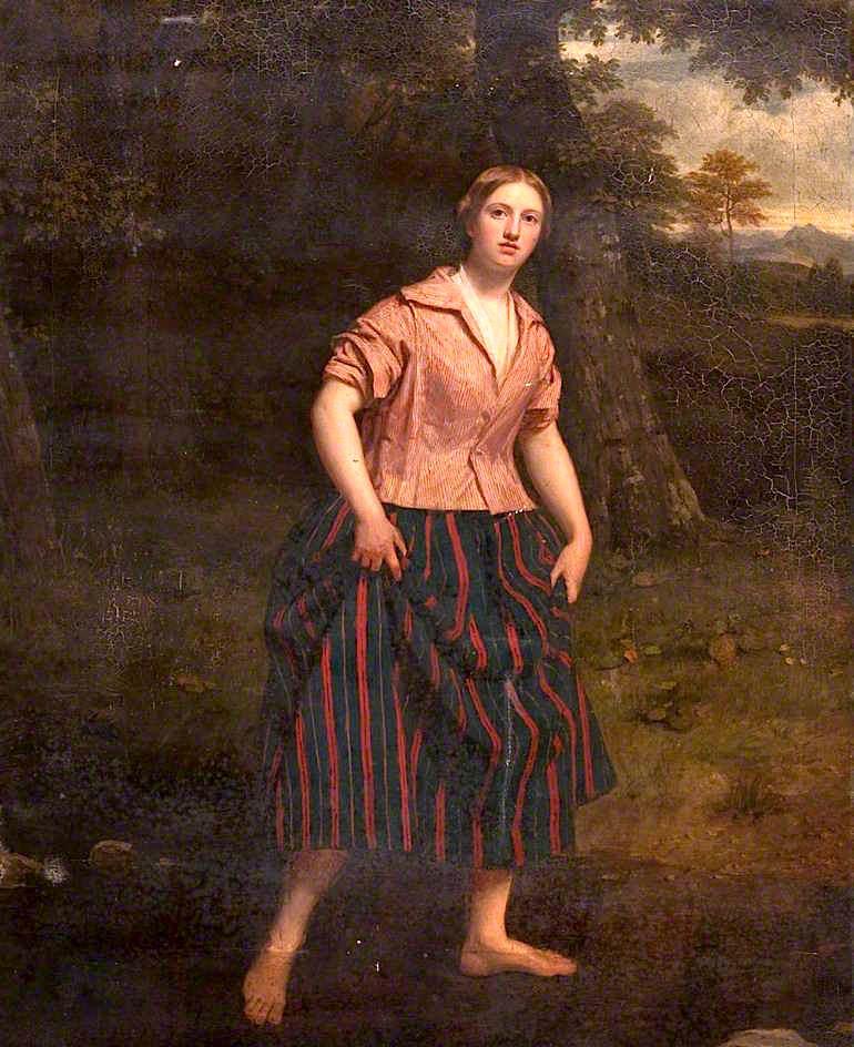 Crossing the Ford   John Graham-Gilbert   oil painting