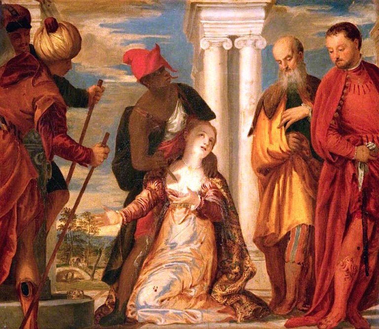 The Martyrdom of Saint Justina (after Paolo Veronese)   John Graham-Gilbert   oil painting
