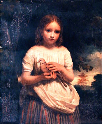 The Pet Dove | John Graham-Gilbert | oil painting