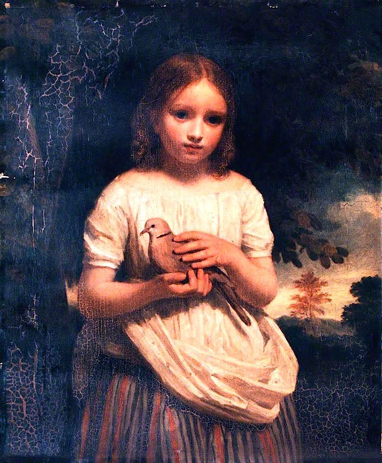 The Pet Dove | John Graham-Gilbert | oil painting