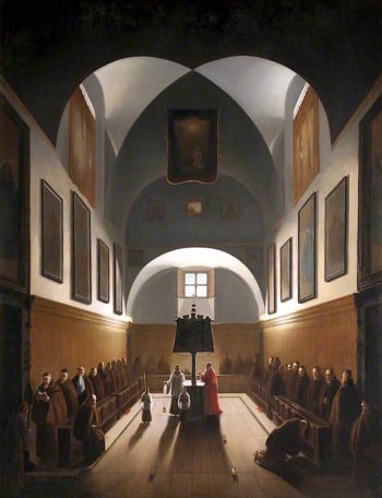 The Choir of the Capuchin Church in Rome | Francois-Marius Granet | oil painting