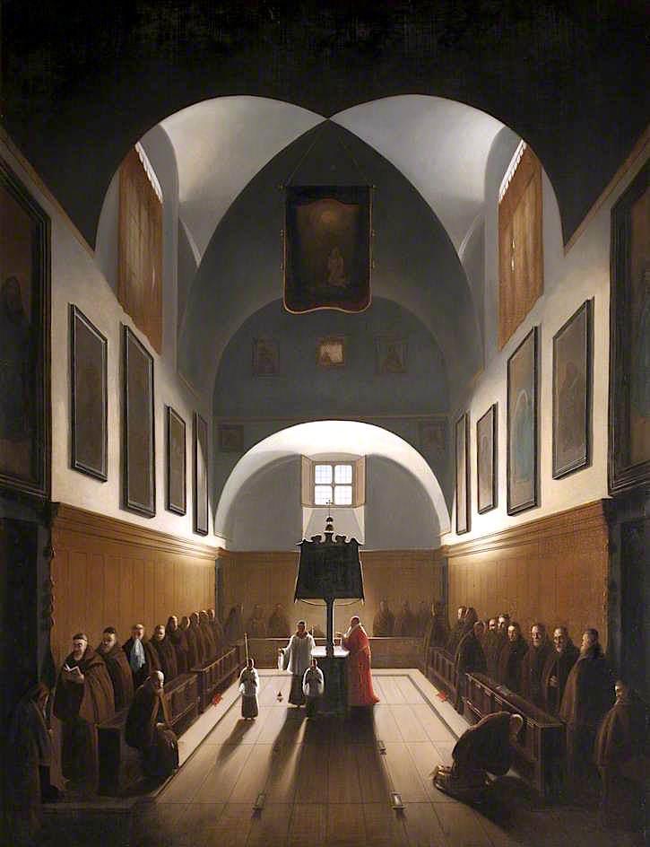 The Choir of the Capuchin Church in Rome | Francois-Marius Granet | oil painting