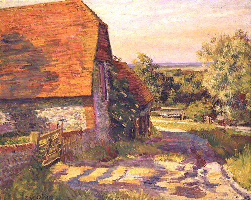 Charleston Barn | Duncan Grant | oil painting