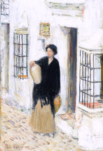 Woman in a Doorway | Childe Hassam | oil painting