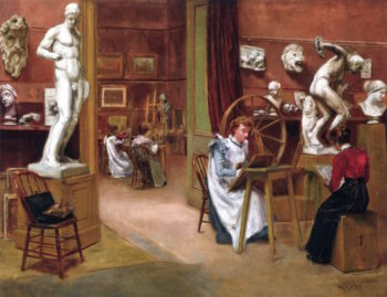 Womens Studio at the Boston Atheneum | Alexander Pope | oil painting