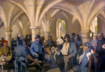 Hôpital Auxiliaire dArmée 301 – Abbaye de Royaumont   Norah Neilson Gray   oil painting