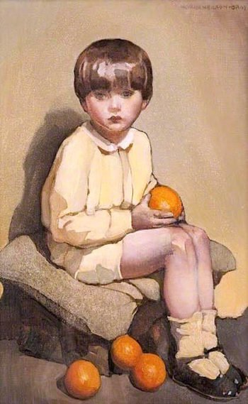 Little Boy with Oranges | Norah Neilson Gray | oil painting