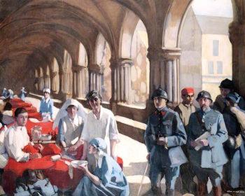 The Scottish Womens Hospital.... | Norah Neilson Gray | oil painting