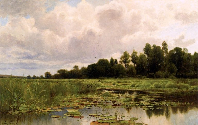 Marshes of the Shiawassee | Charles Harry Eaton | oil painting