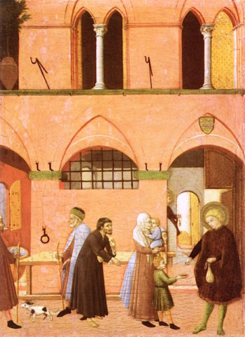 Saint Anthony Distributing His Wealth to the Poor | Sassetta | oil painting