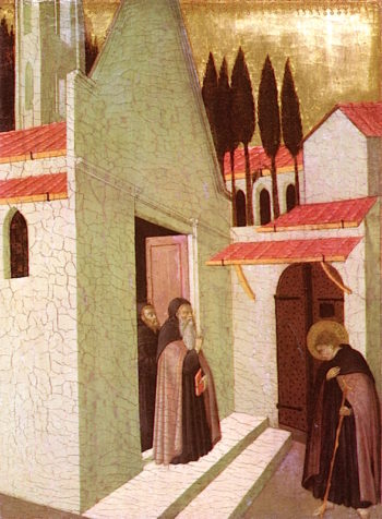 Saint Anthony Leaving His Monastery | Sassetta | oil painting