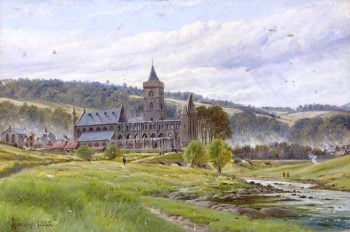 Dunblane Cathedral from the North | James M. Robert Greenlees | oil painting