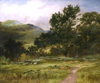 Hillside at Luss | James M. Robert Greenlees | oil painting