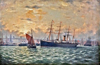 Celtic in the Mersey | George Parker Greenwood | oil painting