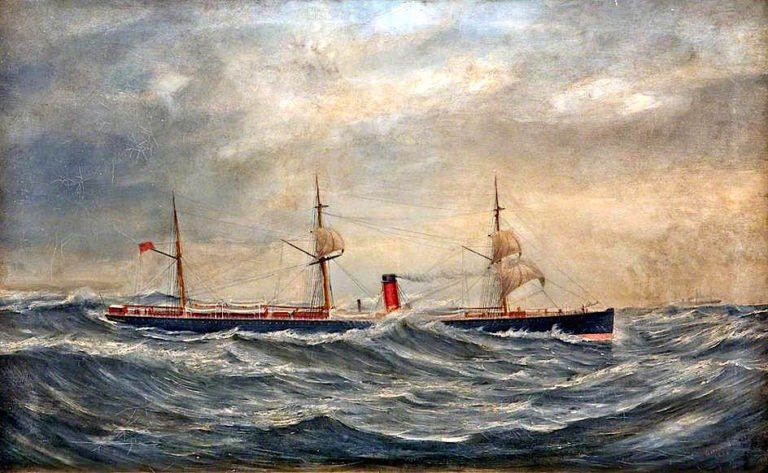 Cunarder in a Storm | George Parker Greenwood | oil painting