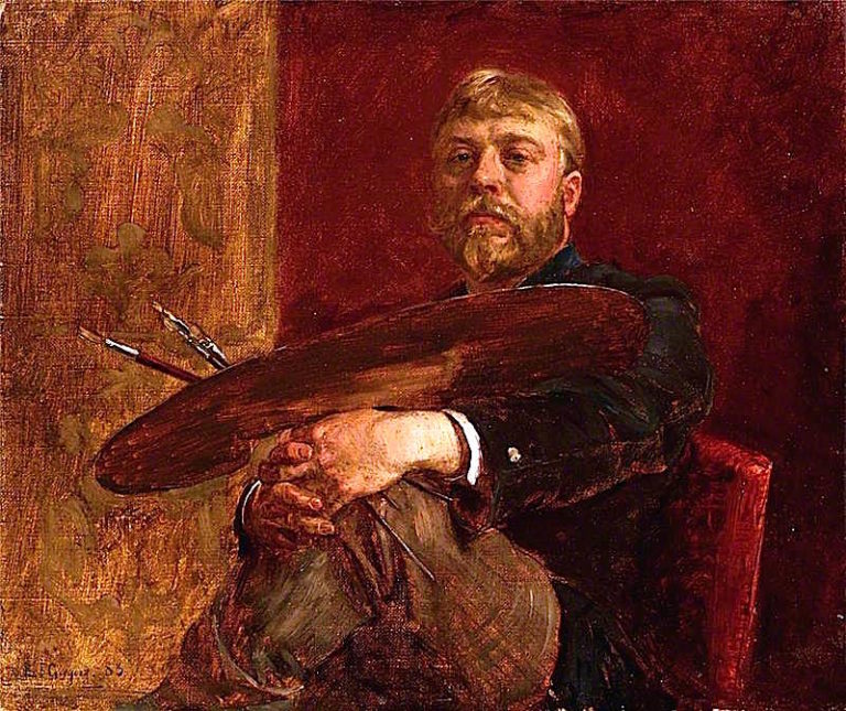 Self Portrait   Edward John Gregory   oil painting