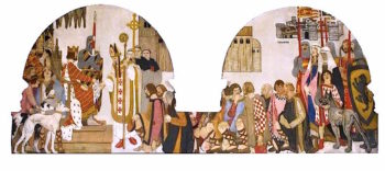 King John Presents the Bishop of London with the Charter for Braintree