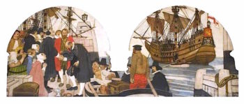 Sailing of the Braintree Company in the Lyon