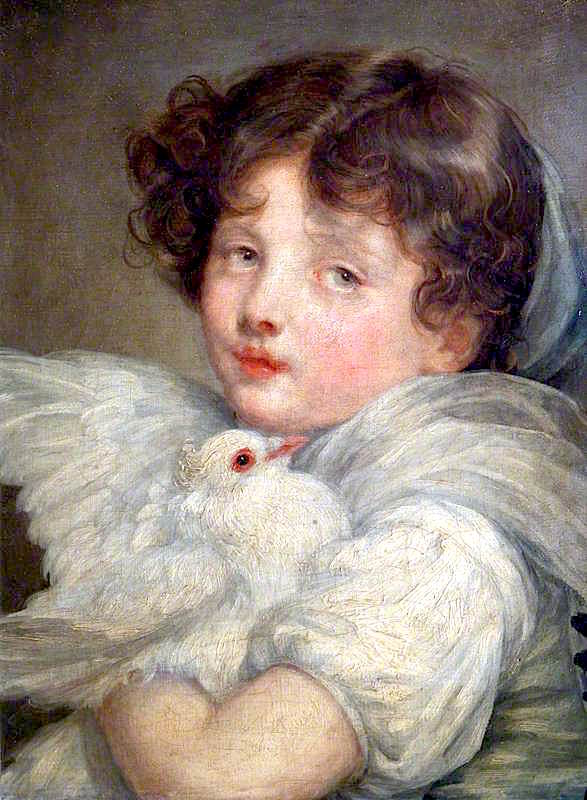A Girl with a Dove | Jean-Baptiste Greuze | oil painting
