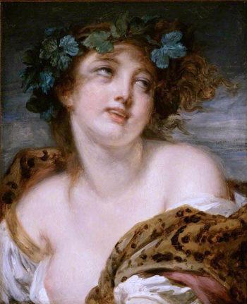 Bacchante | Jean-Baptiste Greuze | oil painting