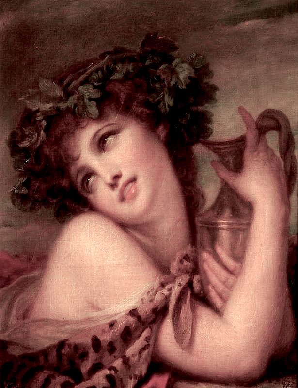Bacchante with an Amphora | Jean-Baptiste Greuze | oil painting
