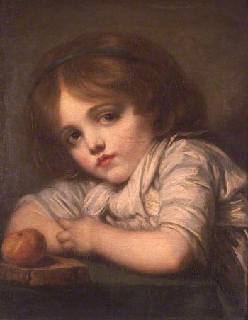 Bust of a Child with an Apple | Jean-Baptiste Greuze | oil painting