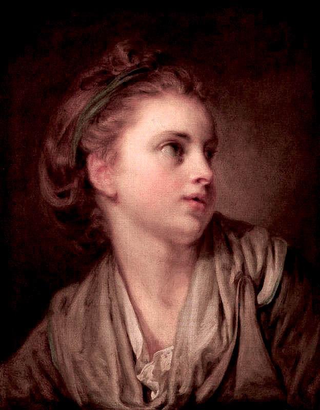 Head of a Girl | Jean-Baptiste Greuze | oil painting