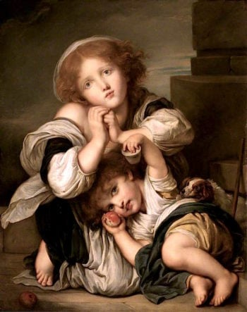 The Young Mendicants | Jean-Baptiste Greuze | oil painting
