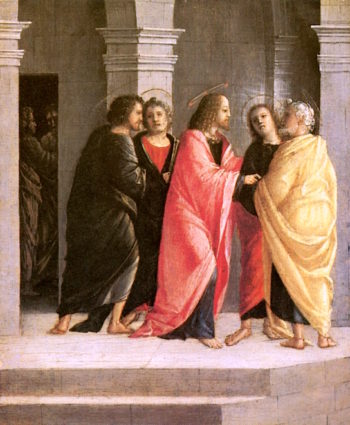 The Apparition of Christ among the Apostles | Bramantino | oil painting