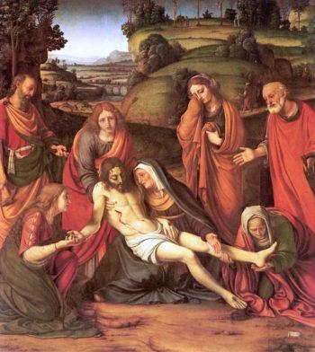 Pietà | Andrea Solario | oil painting