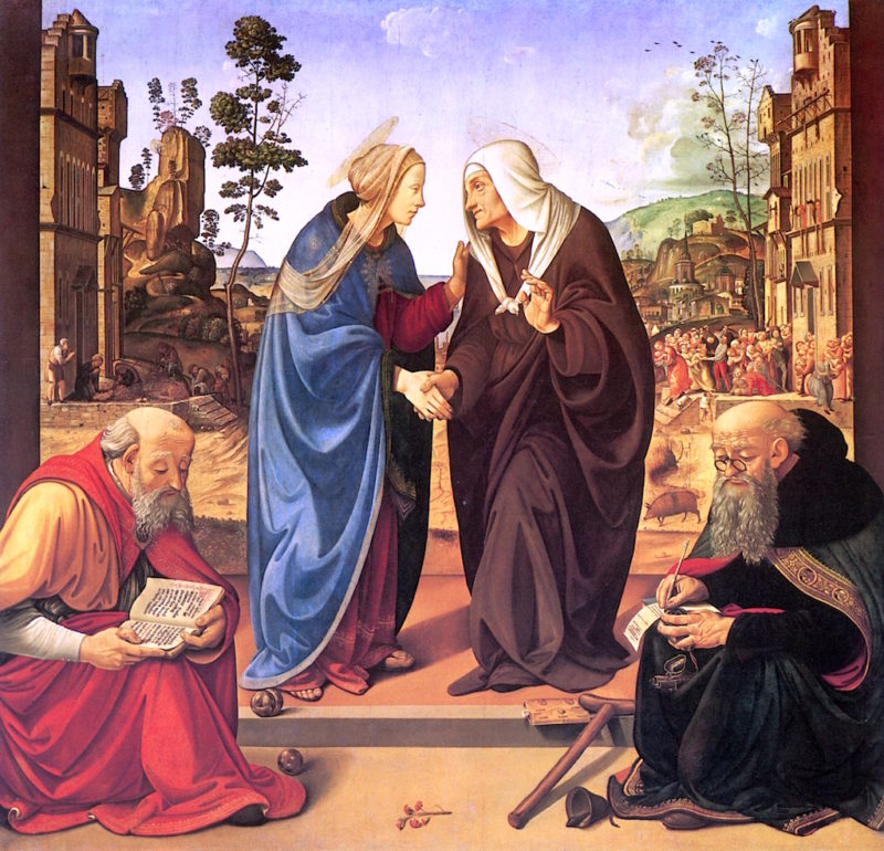 The Visitation with St. Nicholas and St. Anthony Abbot | Piero di Cosimo | oil painting