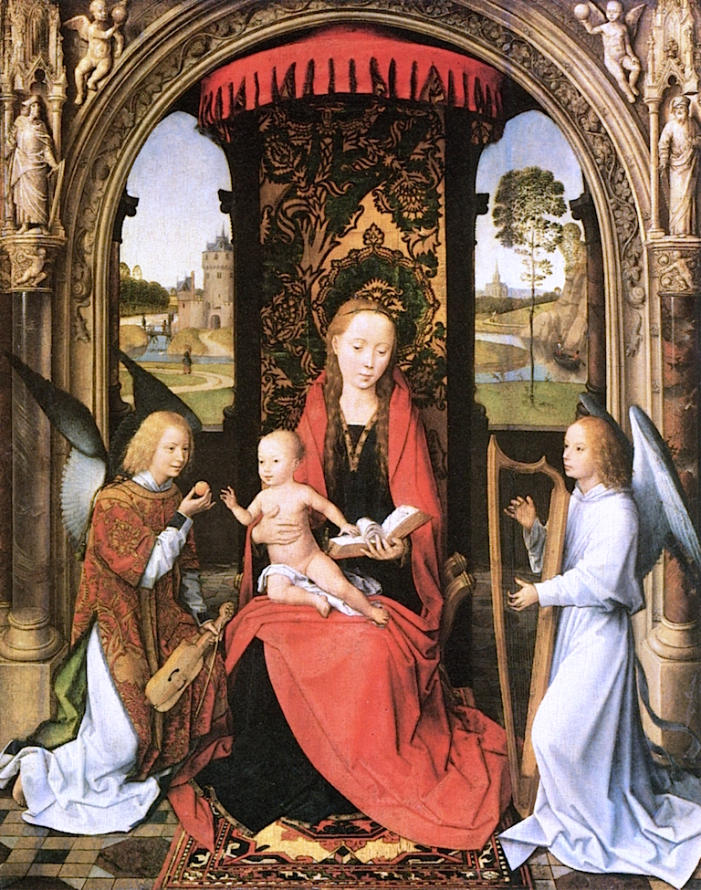 Madonna and Child with Angelts | Hans Memling | oil painting