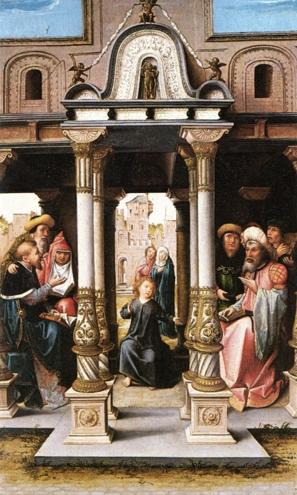 Christ among the Doctors | Barend van Orley | oil painting