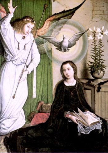 The Annunciation | Juan de Flandes | oil painting