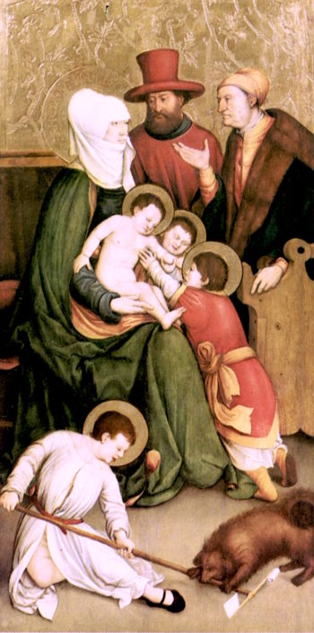 Saint Mary Cleophas and Her Family | Bernhard Strigel | oil painting