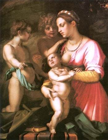 Charity | Andrea del Sarto | oil painting