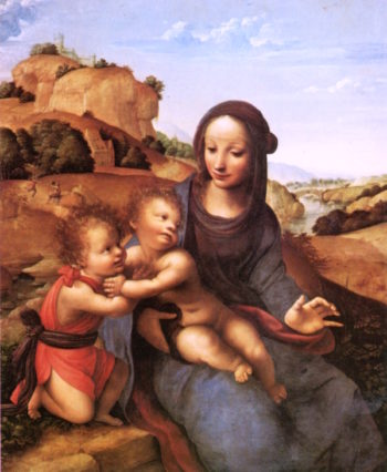 Madonna and Child with the Infant St. John | Giovanni Antonio (Sodoma Bazzi | oil painting
