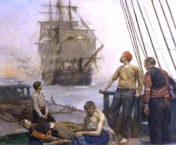 The Plague Ship | Bernard Finnigan Gribble | oil painting