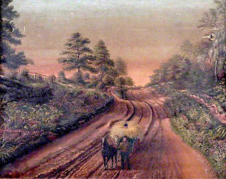 Country Lane   Edwin Grice   oil painting