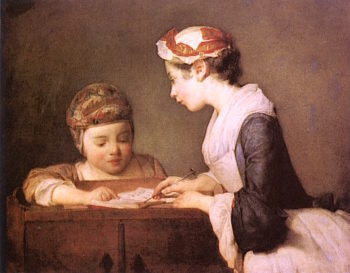 The Young Governess | Jean-Baptiste-Simeon Chardin | oil painting