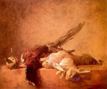 Still Life with Dead Game   Jean-Baptiste-Simeon Chardin   oil painting