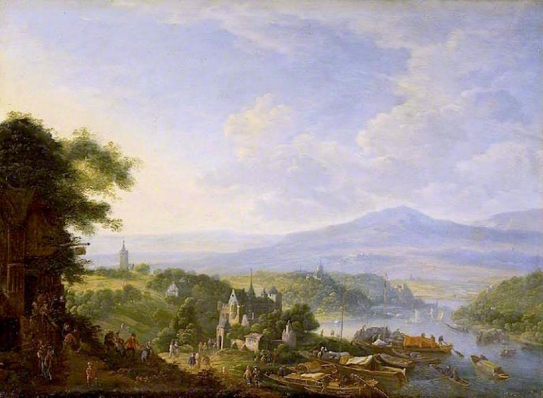 View on the Rhine | Jan Griffier | oil painting