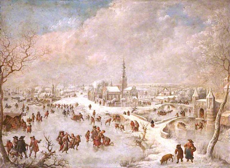 Winter Scene   Jan Griffier   oil painting