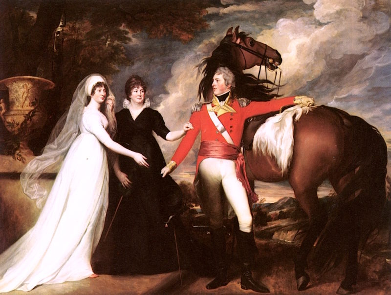 Colonel Fitch and His Sisters   John Singleton Copley   oil painting