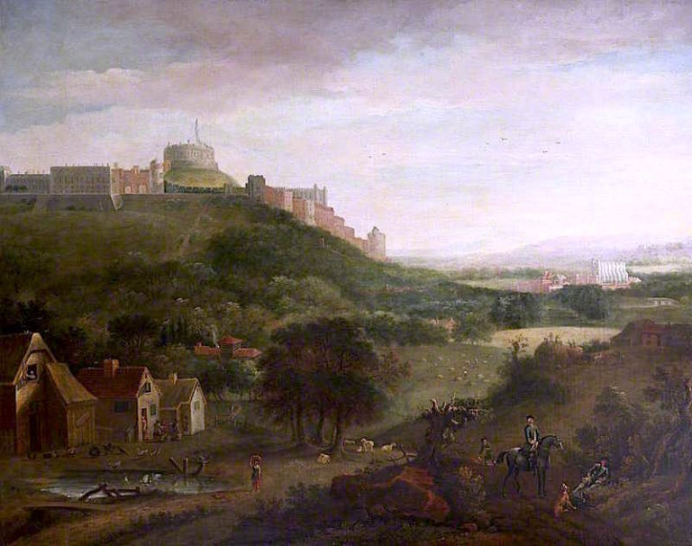 View of Windsor Castle from the North | Jan Griffier II | oil painting