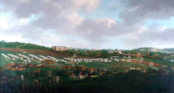 Winchester from the South - West with an Encampment in the Foreground | Jan Griffier II | oil painting