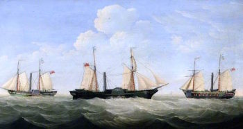 Hull Packet Trio | William Griffin | oil painting