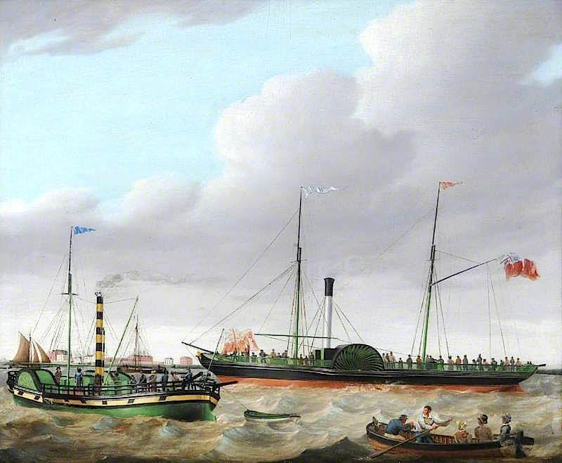 The Lion and Calder off Goole | William Griffin | oil painting